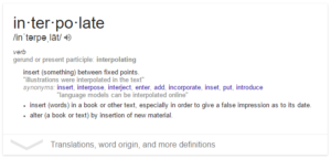 interpolate